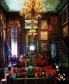 Amazing 10 Dark Bohemian Decor Ideas for Your Home – Home and Apartment Ideas Dark Bohemian, Bohemian Style, Ethnic Style, Bohemian Living, Interior And Exterior, Interior Design, Design Interiors, Bohemian Interior, Bohemian Bedrooms