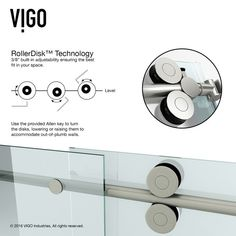 Online Shopping - Bedding, Furniture, Electronics, Jewelry, Clothing & more VIGO Frameless Frosted Glass Sliding Shower Door Vigo Shower Doors, Frameless Sliding Shower Doors, Glass Shower Doors, Sliding Doors, The Doors, Fresh To Go, Stainless Steel Tubing, Modern Shower, Inevitable