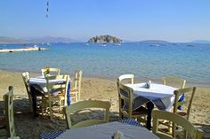 Akrogiali Taverna is one of the top seafront dining options in a small village very close to in the Outdoor Furniture Sets, Outdoor Decor, Mediterranean Sea, Greece Travel, Sun Lounger, Places To See, Coastal, Landscapes, Bucket