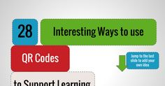 28 Interesting Ways to use QR Codes to Support Learning Jump to the last slide to add your own idea
