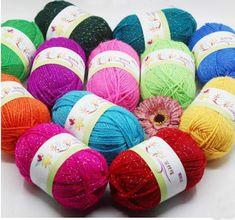 edb6aa3d48a7 15.79  10 balle 50g 100 m 500 gram lot 44 couleur acrylique mélange rayonne  Tricot À La Main Fil cachemire sentir Fil À Tricoter crochet Pour  pantoufles ...