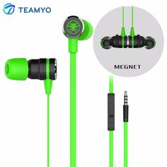 Teamyo G20 Bass Gaming Earphone Magnet Headset Shocking Anti-noise Microphone HiFi Sound Quality Volume Control fone de ouvido #Affiliate