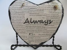 Harry Potter Always Heart Wall Decor by PixieMoonCreations on Etsy, 18.50