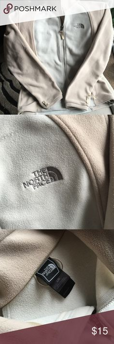 The North Face fleece Cream and tan North Face. Worn a handful of times. Warm and stylish! The North Face Jackets & Coats