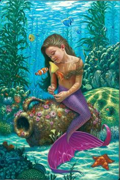Fantasy Diamond Painting Kits that include Fairies and Dragons and all things fantasy. Fantasy Creatures, Mythical Creatures, Sea Creatures, Fantasy Mermaids, Mermaids And Mermen, Mermaid Pictures, Animation, Gif Animé, Animated Gif