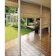 Sonoma Reed Natural Outdoor Roll-up Blinds (36 x 72), Brown (Wood), Outdoor Décor