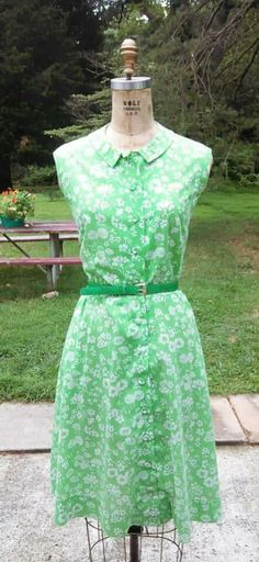 Vintage Peck & Peck cotton blend belted dress by GinaCatalinaVintage on Etsy