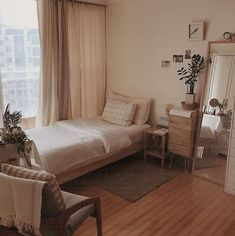 Modern And Minimalist Bedroom Design Ideas is part of - Minimalistic interior design style is getting more popular today Minimalism means simple and basic, without utilizing a lot of ornaments […] Small Room Bedroom, Home Bedroom, Bedroom Decor, Bedroom Simple, Bedroom Ideas For Small Rooms, Small Apartment Bedrooms, Bedroom Rustic, Decorating Bedrooms, Bedroom Plants