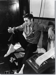June 8, 1956, Elvis Presley dropped by The Commercial Appeal and found an offbeat note. He saw a story that a Canadian radio station was banning his records. 'A lot of people like it', was one of his comments.