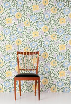 Bilddetalj för -Sagoträdet av Josef Frank - tapet vars mönster ursprungligen ritades ...