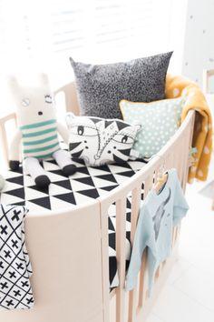 Playful crib bedding