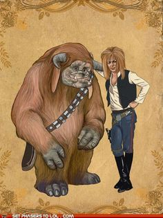 Jareth and Ludo as Han Solo and Chewy.  :::swoon:::