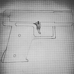 GB-22 alike reciver schematics #gun #pistol #firearm #zipgun #schematic #template #blueprint #drawing #gunsmith  #gunsmithing