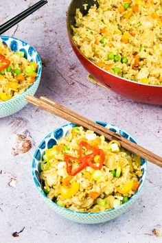This Syn Free Chicken Fried Rice recipe is the ultimate healthy Slimming World fakeaway recipe! It's a super easy dinner recipe that the whole family will love, and makes enough for eight people so you'll even have leftovers for meal prep.