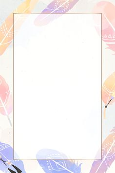 Feather Background, Gold Wallpaper Background, Purple Wallpaper, Kawaii Wallpaper, Background Vintage, Watercolor Background, Watercolor Feather, Watercolor Galaxy, Vector Border