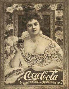Vintage Coca Cola Lady