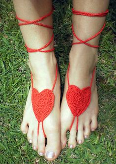 Crochet Barefoot LoVE Sandals