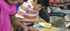 To improve the drawing, sketching, paper crafting skills we organise painting and paper crafting competition twice a month for disabled children in rehabilitation center.