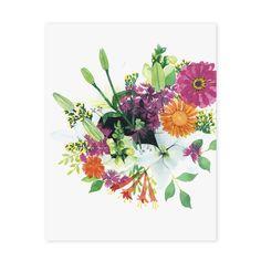 Reunión verano grabado de arte botánico