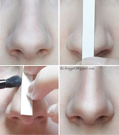 Easy Nose Contouring Tutorial! #lizbreygel Download 'bellashoot' #beautyapp to see more!