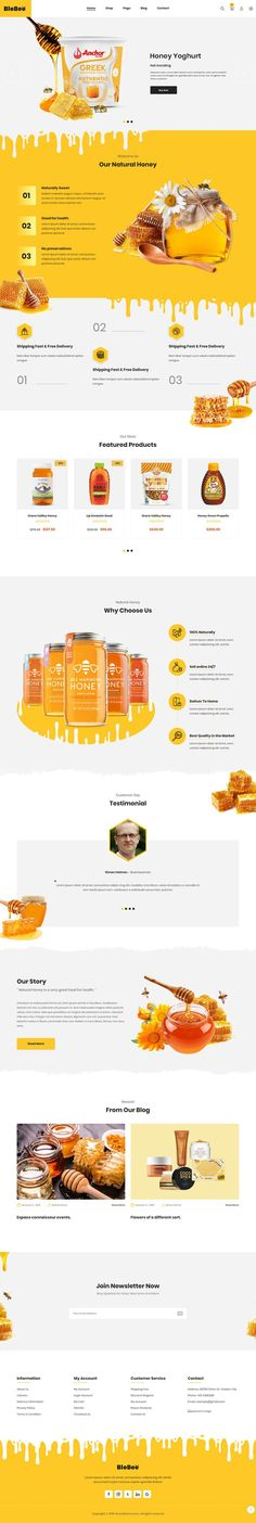 Honey Shop PrestaShop Theme Best Picture For Web Design zen For Your Taste You are looking for something, and it is going to tell you exactly what you are looking for, and you didn't find that picture. Here you will find the most beautiful pictur Food Web Design, Web Design Studio, Design Design, Web Design Examples, Web Design Trends, Layout Web, Online Portfolio Design, Mise En Page Web, Marketing Website