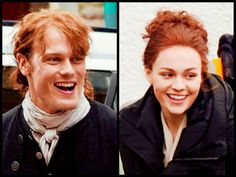 ♥️♥️♥️ Father and Daughter - BTS with Sam Heughan as Jamie Fraser and Sophie Skelton as Brianna Randall of Outlander_Starz Season 4 Drums of Autumn - February 19th, 2018