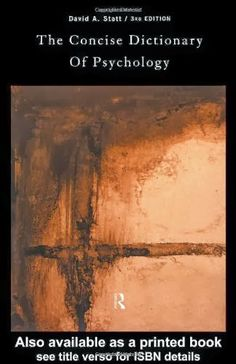 The Concise Dictionary of Psychology   Bookz Ebookz