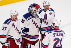 New York Rangers goalie Henrik Lundqvist (30) as they win 7-2 against the Montreal Canadiens  in Game One of the NHL Eastern Conference Finals at theBell Center on Saturday May 17th, 2014 (Andrew Theodorakis/New York Daily News).