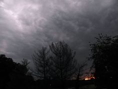 Storm clouds and sunset in NC