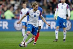 Birkir Bjarnason of Iceland during the EURO Qualifier match between France v Iceland at the Stade de France on March 2019 in Paris France Get premium, high resolution news photos at Getty Images Still Image, Paris France, Iceland, Euro, News, Ice Land