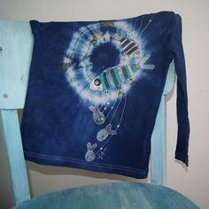 615fe267762 Tričko batikované rybičkové vel. 98 104 - kvalitní RECY dětské tričko