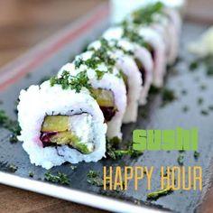 Looking forward to Sushi Happy Hour this week? See ya tomorrow! All rolls $9 #burgushi #yyceats #yycfoodies #yycsushi