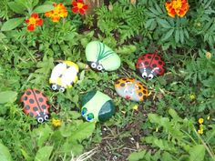Painted rocks for garden or anywhere..nice Facebook page..Tracey's River Rocks