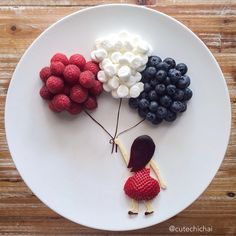 Food Art. Memorial Day! Thank you to all the men and women who served and are currently serving in the armed forces.