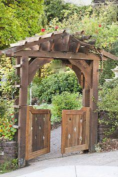 , 5 Healed Tips: Whimsical Garden Ideas Window small backyard garden window boxes.Easy Backyard Garden W. Diy Garden Fence, Backyard Garden Landscape, Garden Entrance, Small Backyard Gardens, Backyard Fences, Garden Trellis, Easy Garden, Backyard Landscaping, Garden Ideas