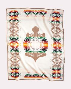 Collectible Turtle Pendleton Blanket from the Legendary Collection depicting the creation story of the Iroquois Blanket Fort, Wool Blanket, Art Indien, Pendleton Woolen Mills, Pendleton Blankets, Bed Blankets, Fleece Blankets, Native American Crafts, American Indians