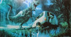 Spectacularly Colorful JURASSIC PARK Concept Art by Craig Mullins, Dave Negron Sr. and John Bell « Film Sketchr