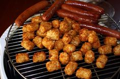 Even simple lunches come out extra tasty when they're prepared in the NuWave Oven.  Ginette L. cooked these tater tots for 8 minutes, then added hot dogs and cooked for another 8 minutes for a quick and easy meal!