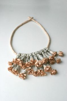 jewelry++m+peper+recicle   newpaper #paper #paper flower #paper jewellery #hayat aslı bilgin