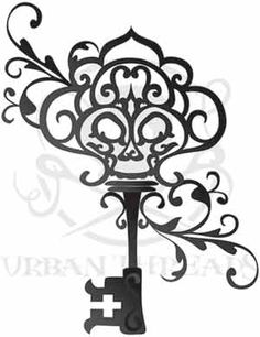 Urban Threads Skeleton Key - reference for a tattoo I want to try to draw