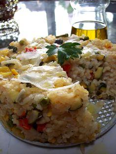 PROUD ITALIAN COOK: Risotto Primavera Cake!