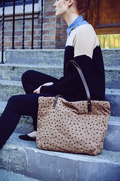 This is my favorite go-to bag!  It fits EVERYTHING!