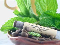 Espresso Bean Natural Lip Gloss - Brown Lip Tint - Natural Cosmetics - Tinted…