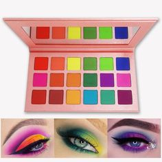 TIME SALE : Summer Colorful Eyeshadow Palette Matte 18 Colors Shimmer Blendable Bright Eye Shadow Pallete Silky Powder Pigmented Makeup Kit - Daily Buy Tips High Pigment Eyeshadow, Bright Eyeshadow, Makeup Eyeshadow Palette, Best Colorful Eyeshadow Palette, Best Makeup Palettes, Make Up Kits, Summer Eyeshadow, Make Up Palette, Color Mate