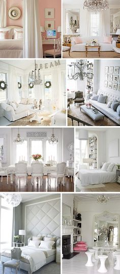 white simple decor. Love it.