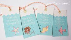 #free printable #mermaid #party