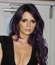 Mischa Barton ROCKS this purple hair look. Lovely. #haircolor #love #southsalonmanila