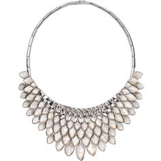 Stephen Webster, Silver capsule collection, Superstone Collar, White rhodium plated sterling silver and white mother of pearl