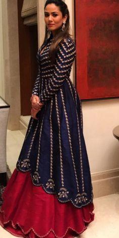 Anarkali Dress, Pakistani Dresses, Indian Dresses, Indian Outfits, Dress Neck Designs, Blouse Designs, Winter Dresses, Evening Dresses, India Fashion