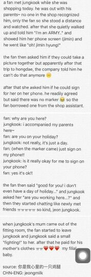 Jungkook being nice to a fan